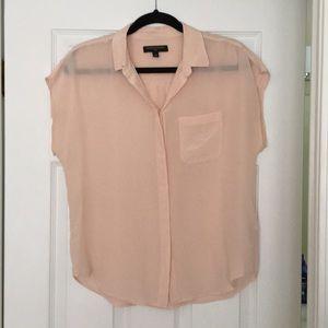 Banana Republic light pink silk blouse